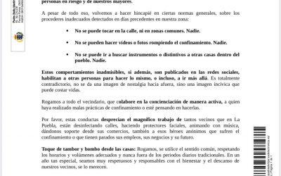 BANDO DE CONCIENCIACIÓN CIUDADANA PARA LA SEMANA SANTA
