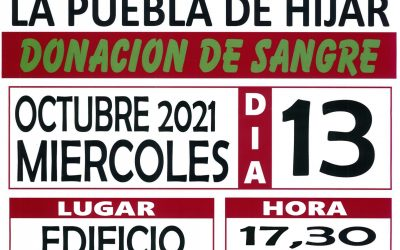 DONACIÓN DE SANGRE OCTUBRE 2021