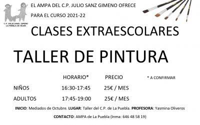 CLASES EXTRAESCOLARES «TALLER DE PINTURA» CURSO 2021-2022